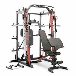 Marcy Smith Machine Cage System Home Gym Multifunction Rack, Customizable Traini