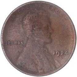 1924 D Lincoln Wheat Cent Fine Penny Fn See Pics J436