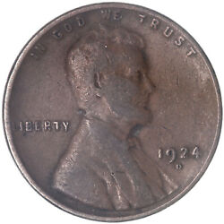 1924 D Lincoln Wheat Cent Fine Penny Fn See Pics J439