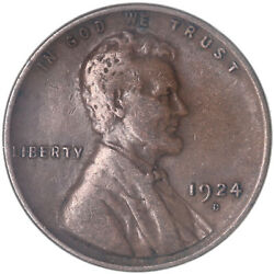 1924 D Lincoln Wheat Cent Very Fine Penny Vf See Pics J443