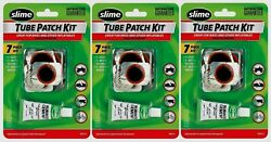 3pk Slime Tube Patch Kit 7pc Bike Tires Other Inflatables Repair Puncture 1022-a