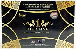 2021 Topps Tier One Baseball Hobby Box 2 Autos And 1 Relic With Free Shipping