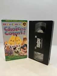 Kids for Character: Choices Count VHS 1997 Bananas In Pajamas RARE OOP $11.90