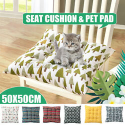 Indoor Outdoor Dining Garden Patio Soft Chair Seat Pads Cushions Room Home 20