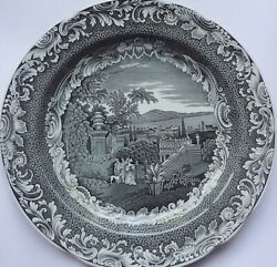 1996-2006 Spode Engravers Archive Collection Black Byron Views 10 1/4 Plate