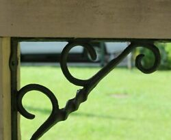 Country Cottage Window Corner Corbels Brackets, Solid Cast Iron, B-55