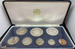 Jamaica 1974 8 Coins Proof Set Original Packaging 2 Silver Coins 1.8772 Asw