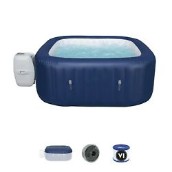 Bestway 110v 6 Person Inflatable Hot Tub Spa With Pump 60022e 1.80m X1.80 Mx71cm