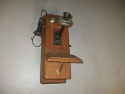 Antique Oak Wall Phone - Western Electric - Holtzer Cabot - W/early Receiver
