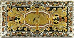 5and039x2.5and039 Black Marble Table Top Dining Center Inlay Lapis Handmade Decor