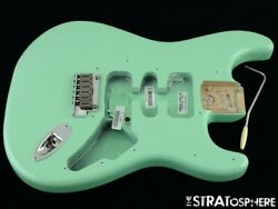 2021 Usa Fender Jeff Beck Strat Body And Hardware Guitar Parts Surf Green.