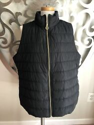 Womenand039s Insulated Black Puffer Vest Size 1x Retail 135