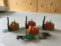 Lot Of 3 Vintage Dinky Toys Coventry Climax Forklifts, Tow Motors, Lift Trucks