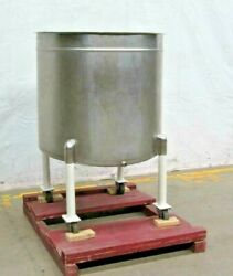 150gal Stainless Steel Open To Single Wall Tank, 38dia X 33straight Side