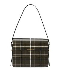 Sold Out New Large Tartan-print Leather Grace Top-handle Bag 1520