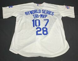 Tri Mvp Ron Cey Pedro Guerrero Steve Yeager Signed Dodgers Jersey 9a55465