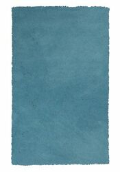 10and039x13and039 Highlighter Blue Indoor Shag Rug