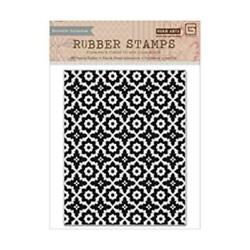 Hero Arts Discontinued Cling Stamp Spice Market Flower Symbol Background Cg640
