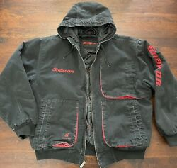 Snap-on Ltd. Edition Tools Insulated Work Jacket Black Winter Coat Quilted Large