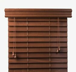Bravada Select 2 Inch 100 Real Wood Blinds, -3 Colors Available