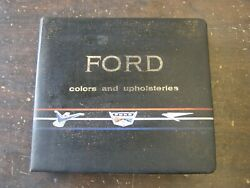 Oem Ford 1961 Dealer's Color + Trim Book Galaxie Thunderbird Falcon Starliner
