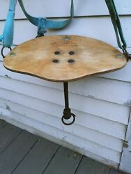 Old Antique Friscan Wood Seat Milking Stool Industrial