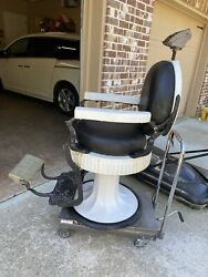 Double Round Flute Koken Barber Chair