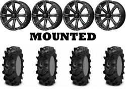 Kit 4 Itp Cryptid Tires 32x10-15 On Msa M42 Bounty Matte Black Wheels Can