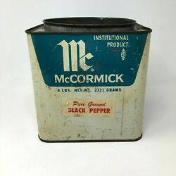 Vintage Mccormick Large Spice Canister General Store Institutional Pepper Tin Ad