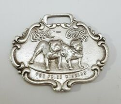 Coca-cola Bull Dogs The Prize Winners Watch Key Fob Repro