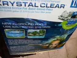 Intex Krystal Clear Saltwater System Box Open For Pics Never Used