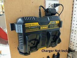 Wall Mount For Dewalt Dcb102 Charger With Optional Battery Mounts, Made In Usa