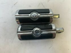 Oem Harley Davidson Skully Motorcycles Used Chrome Scratched Foot Pegs Pair