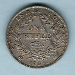 India. 1835 One Rupee.. Bombay Mint Without Initials.. Part Lustre. Aef/gvf