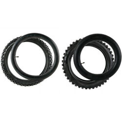 Front Rear Tire And Tube 90/100-14 70/100-17 Off Road Tires For Cr85 Yz85 Pit Bike