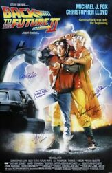 Back To The Future Ii Cast Signed Poster 27x40 With Inscriptions