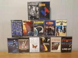 Rock Cassette Tapes Job Lot X13 - Yandt Magnum Rainbow Gillan And Glover +