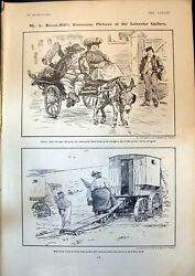 Antique Old Print L Raven-hills Humorous Pictures Moke People Cameras 1904 20th