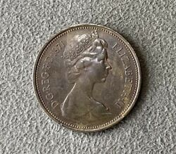 Very Rare 1971 New Pence 2p British Elizabeth Ii Coin First Release Andbull 1971