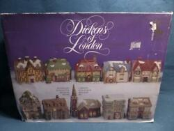 Dickens Of London Christmas Village 10 Porcelain Collectables No Lights