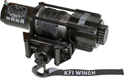 Kfi Se45w-r2 4500lb Stealth Wide Spool Winch Kit W/ Black Synthetic Cable And