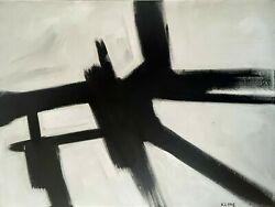 Franz Kline - Oil On Canvas Of 50and039s- Untitled