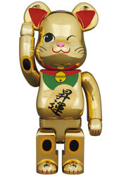Bearbrick Beckoning Cat Promotion Two Gold Plated 400 Medicom Toy Bearbrick
