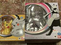 Bandai S.h. Figuarts Pokemon Pikachu And D-arts Mewtwo Set Of 2 From Japan