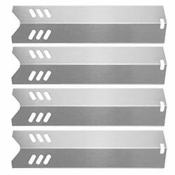 4 Pcs Stainless Steel Grill Heat Plates For Dyna-glo Dgf493bnp 15 For Backyard