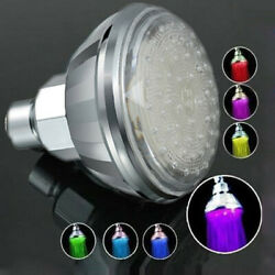 New Colorful Head Home Bathroom 7 Colors Changing Led Shower Water Glow Light Us