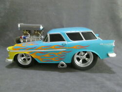 Muscle Machines 118 1955 Chevy Nomad-turquoise With Flames