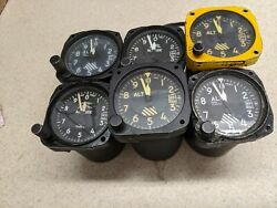 Lot Of 6 3 1/8 Aircraft Altimeters Instrument