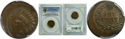 1864 Indian Head Cent L On Ribbon Struck 20 Off Center Pcgs Ms-64 Bn