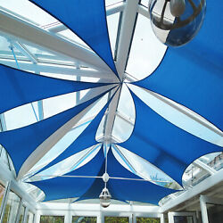 Blue 37 Ft Heavy Duty Steel Wire Cable Sun Shade Sail Canopy Patio Pool